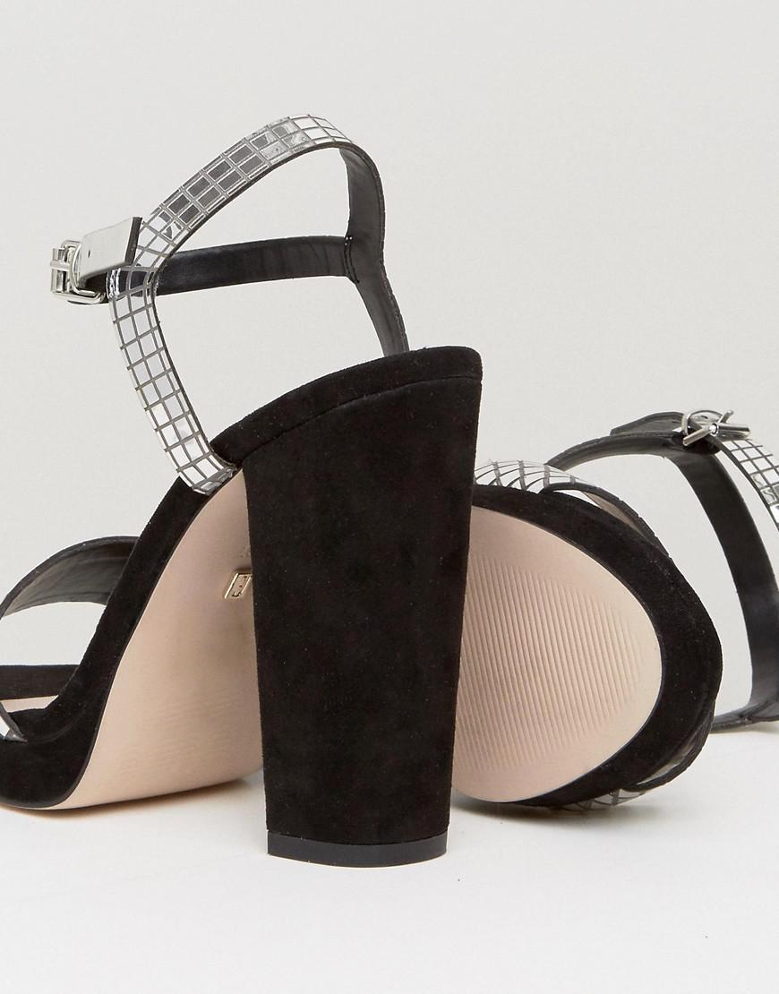 6b0877f512c Faith Mirror Platform Sandals in Metallic - Lyst