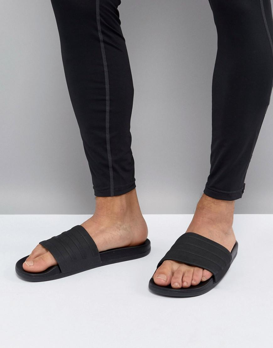 check out 689df cae2e Adidas Adilette Cf+ Sliders In Black S82137 in Black for Men - Lyst
