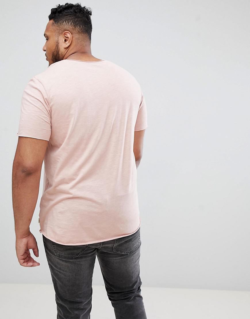 e7f75d2d Lyst - Jack & Jones Essentials Plus Size Longline T-shirt With Raw ...