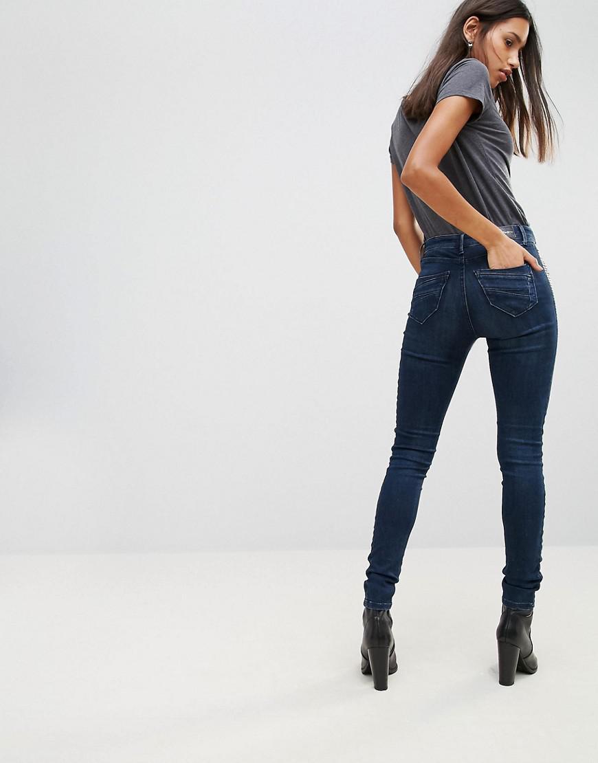 Pepe Jeans Denim Dynamite High Rise Skinny Jeans in Blue