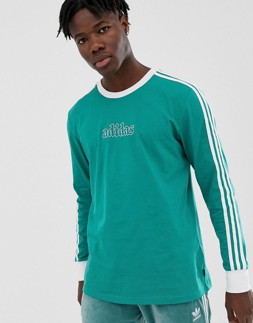 831334b7286 adidas Originals Long Sleeve T-shirt Green in Green for Men - Lyst