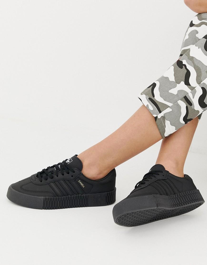 Samba Rose - Baskets - Triple noir Cuir adidas Originals en ...