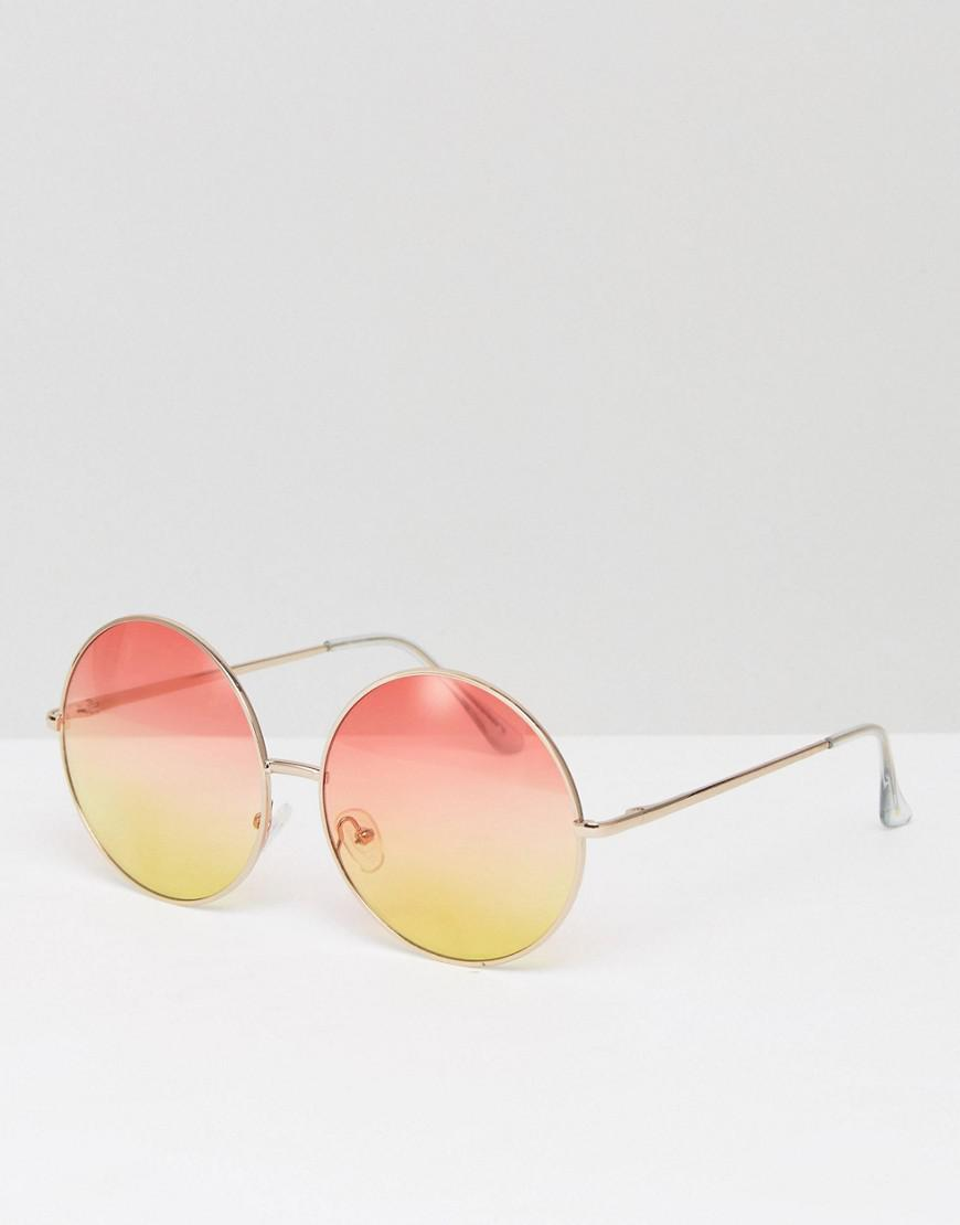 2a0247a0b5 Skinnydip London Round Pink   Yellow Lens Sunglasses - Lyst