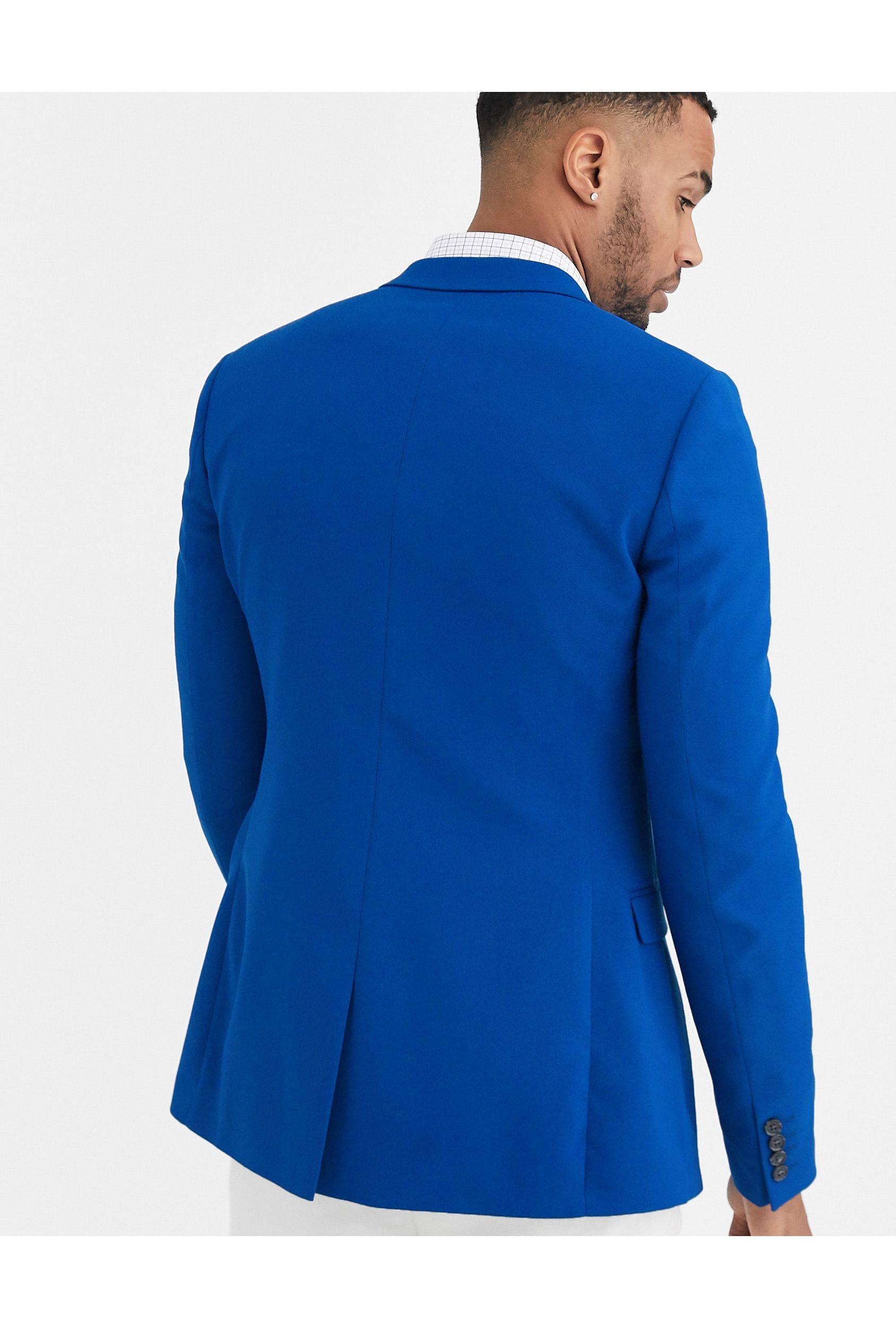 ASOS Synthetisch Tall - Superskinny Blazer in het Blauw voor heren