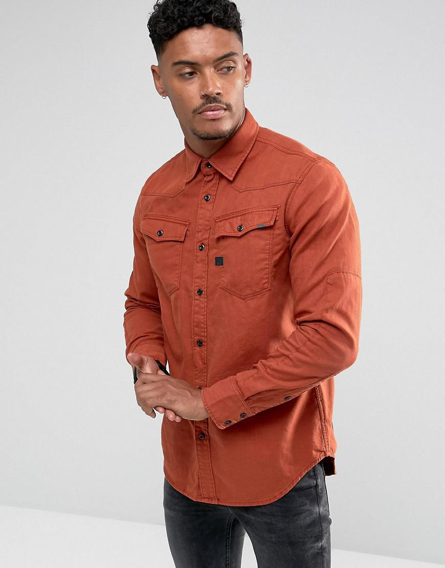lyst g star raw 3301 pm shirt in red for men. Black Bedroom Furniture Sets. Home Design Ideas