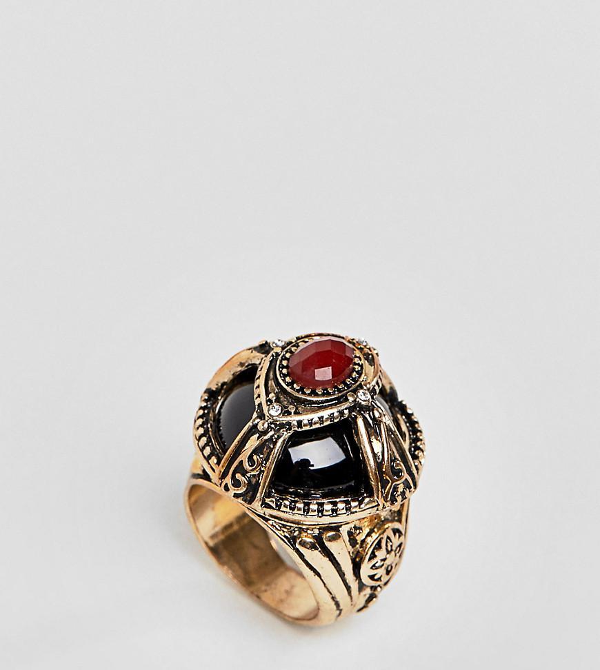 Asos DESIGN Statement Dome Jewel Ring - Gold Lzopk0vZ7a