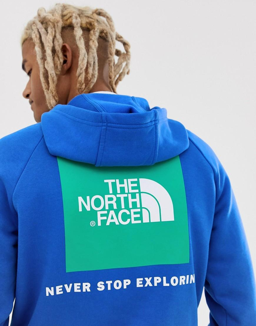 38842c7f1 Lyst - The North Face Raglan Red Box Hoodie In Blue in Blue for Men