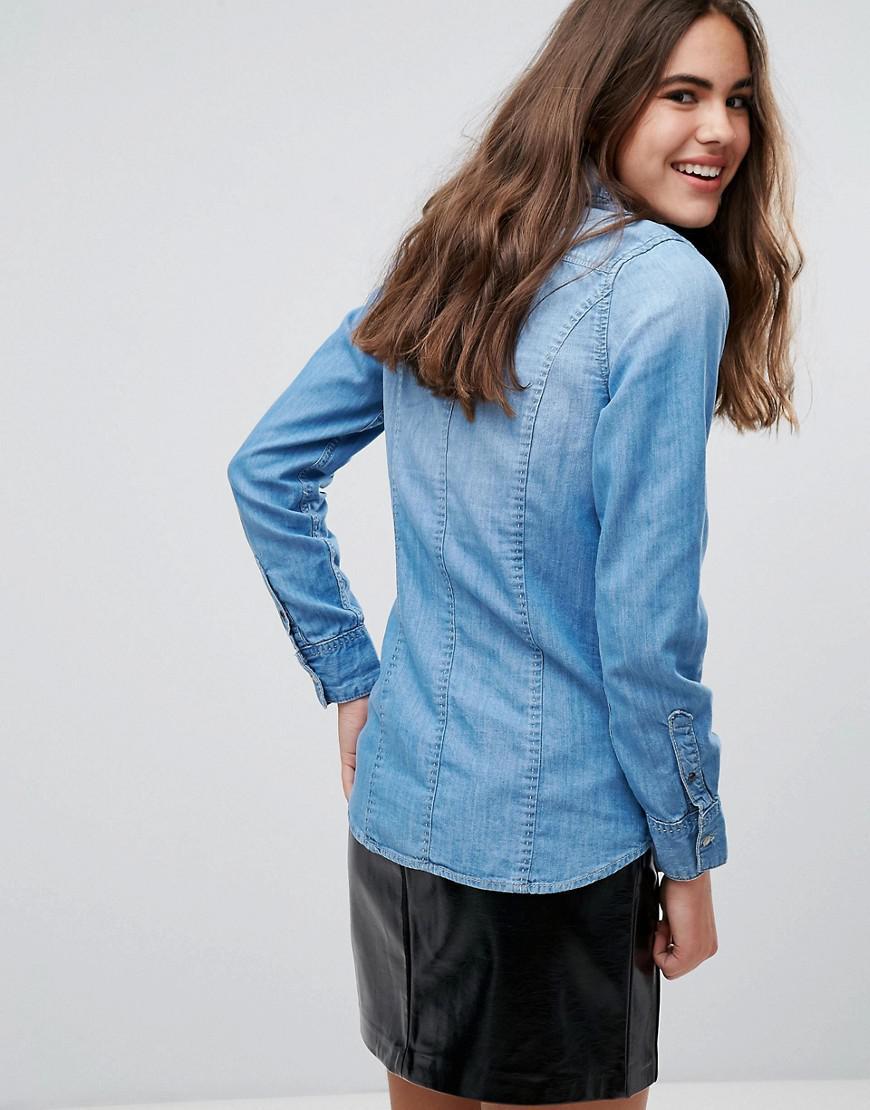 Pepe Jeans Periwinkle Denim Shirt in Blue