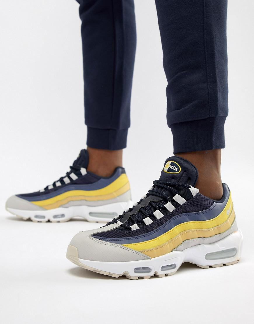 sale retailer ef947 84bb2 Nike Rubber Air Max 95 Essential Sneakers In In White 749766 ...