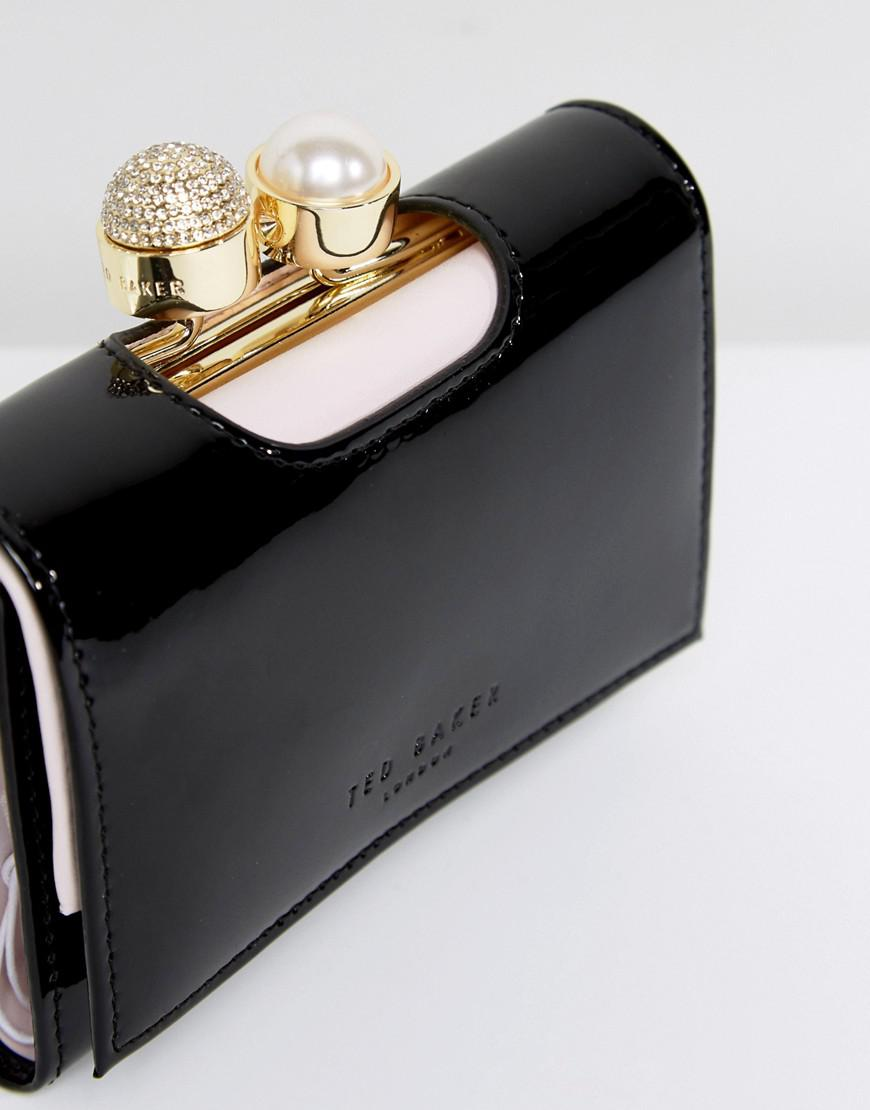 b8fe54a95921 Ted Baker Small Patent Purse With Pearl Crystal Bobble - Best Purse ...