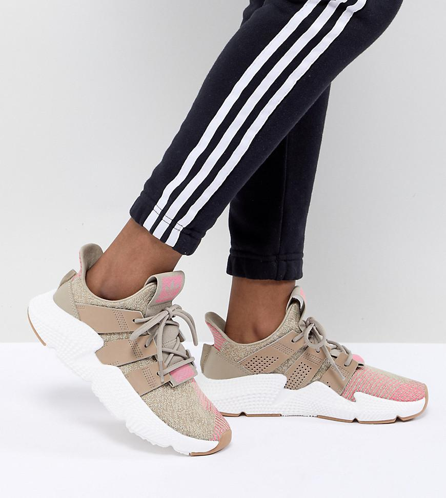 ca36f4907dab8 Lyst - adidas Originals Prophere Trainers In Beige And Pink in Natural
