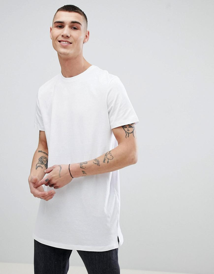 2873c639878c Lyst - New Look Longline T-shirt In White in White for Men