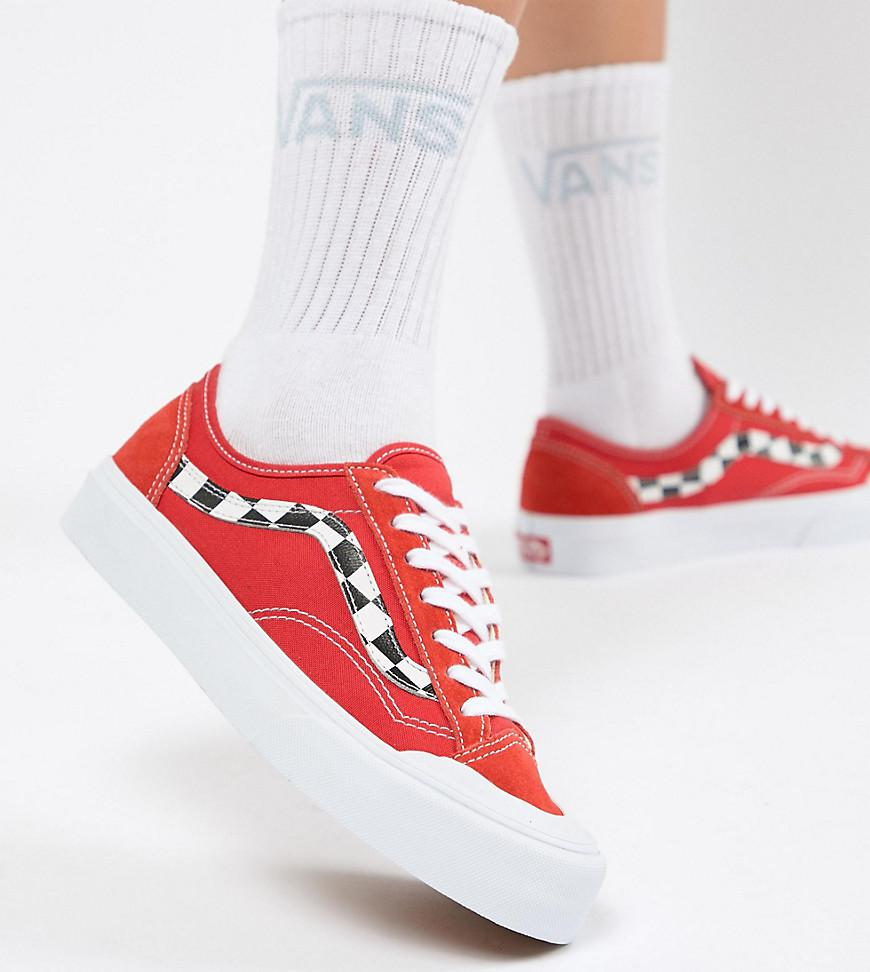 1c5cb70c9e Vans Exclusive Red Style 36 Decon Sf Trainers in Red - Lyst