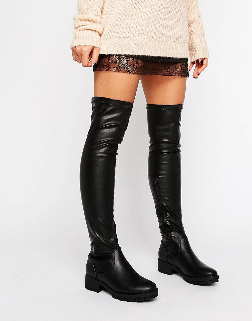 c0a4e007ea2 Truffle Collection Truffle Kiley Over The Knee Boot in Black - Lyst