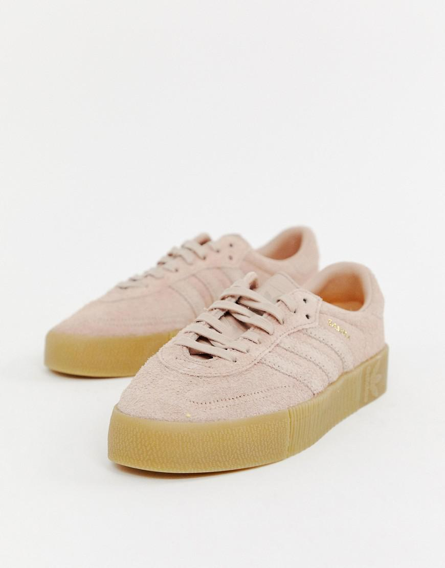 adidas Originals. Women s Samba Rose Sneakers In Pink With Gum Sole 282e83580