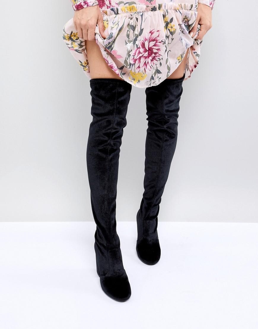 Miss Selfridge Over The Knee Velvet