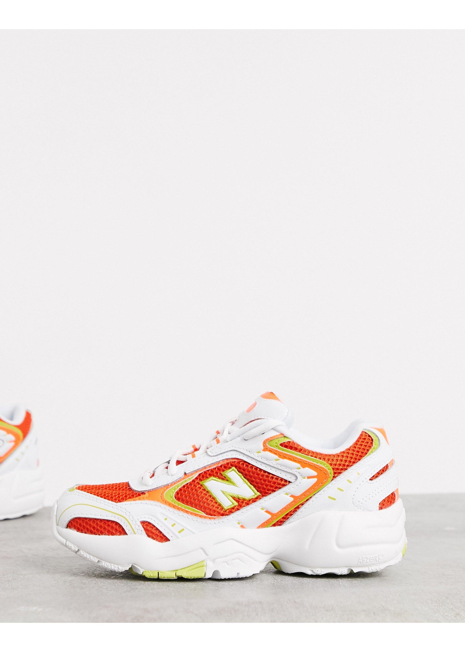 basket new balance femme orange