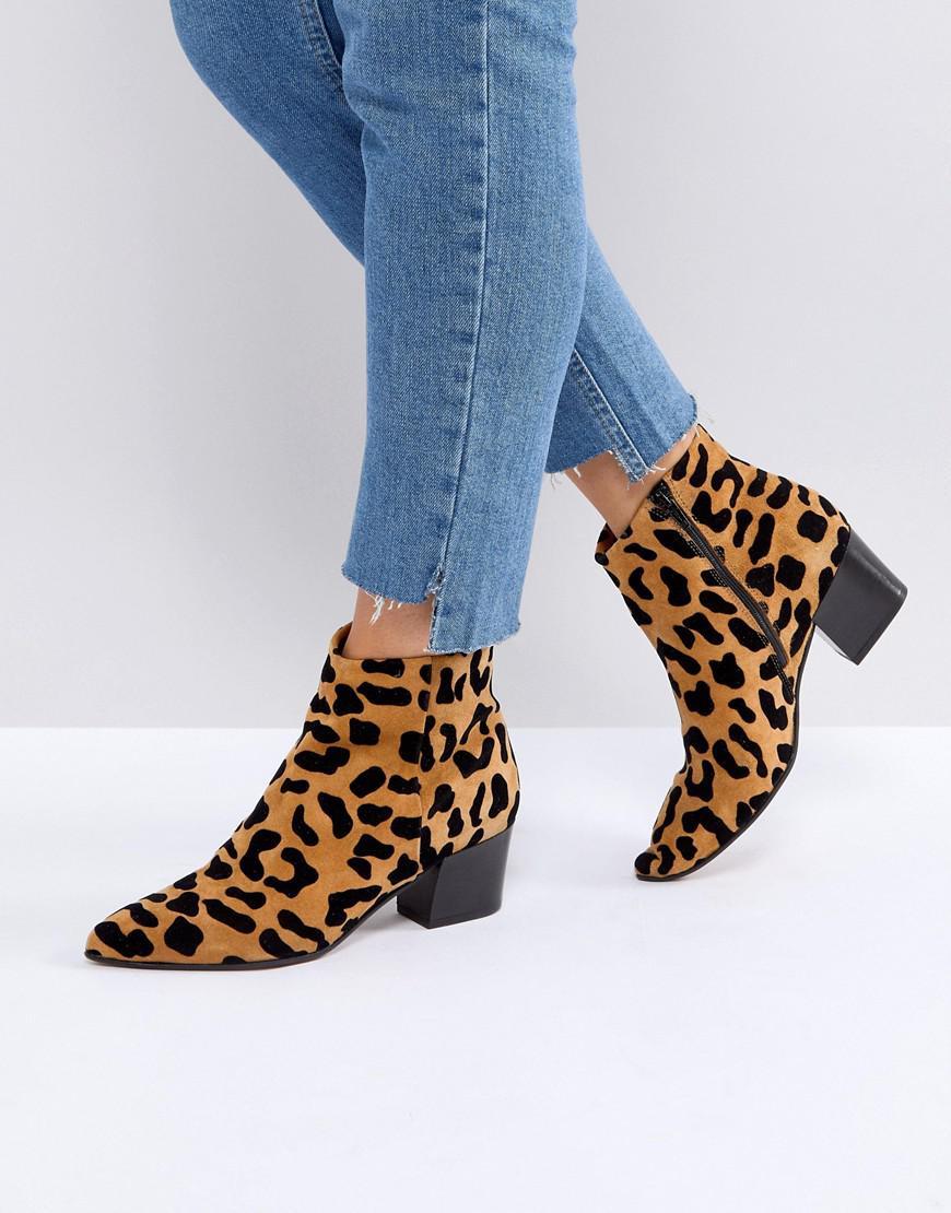 Lyst Office Aruba Leopard Print Boots