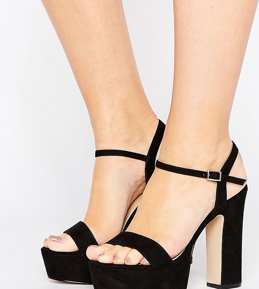 a7fffbc89388 Asos Higher Love Wide Fit Platform Sandals in Black - Lyst