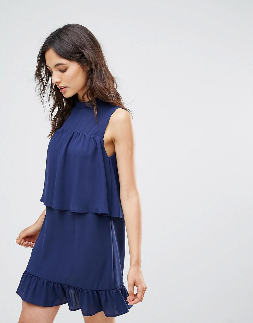 e5ee5dfaa3 Rage Frilled Layer Dress in Blue - Lyst