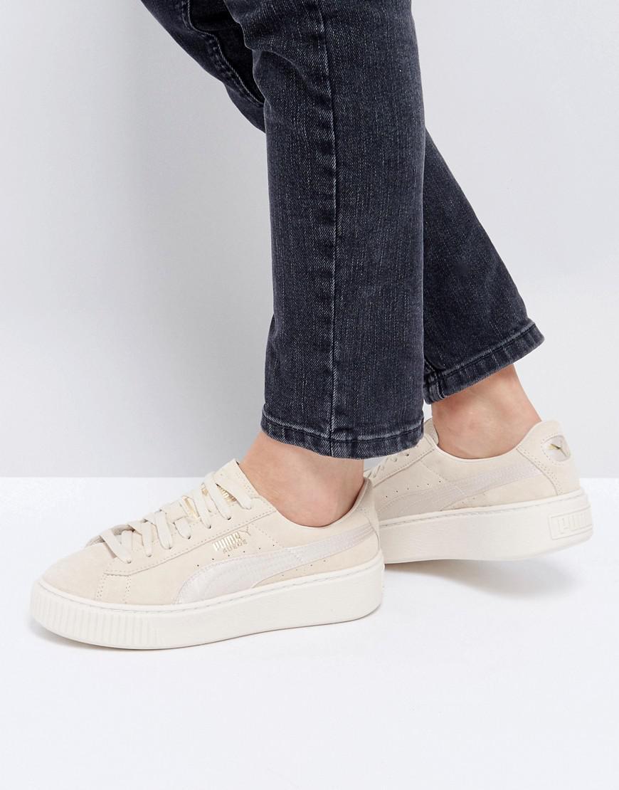 Puma Sneaker - Suede Platform Satin Beige