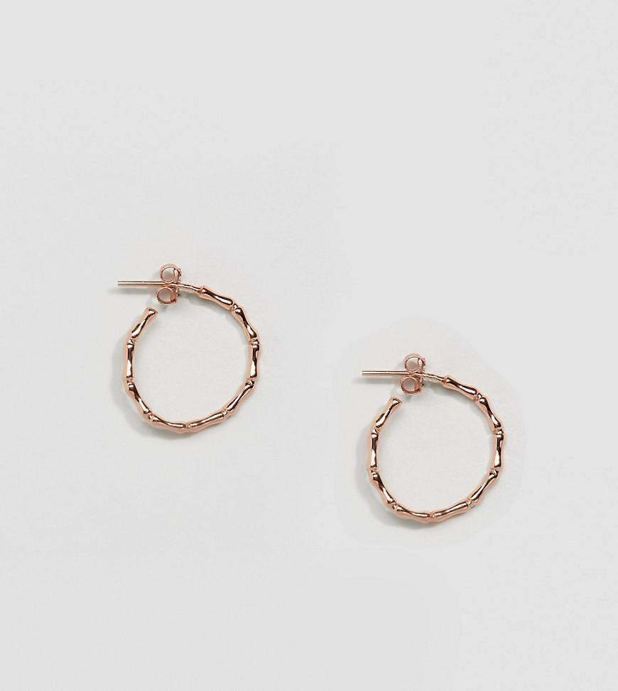 Kingsley Ryan. Women\u0027s Metallic Rose Gold Plated Bamboo Hoop Earrings  sc 1 st  Lyst & Lyst - Kingsley Ryan Rose Gold Plated Bamboo Hoop Earrings in Metallic