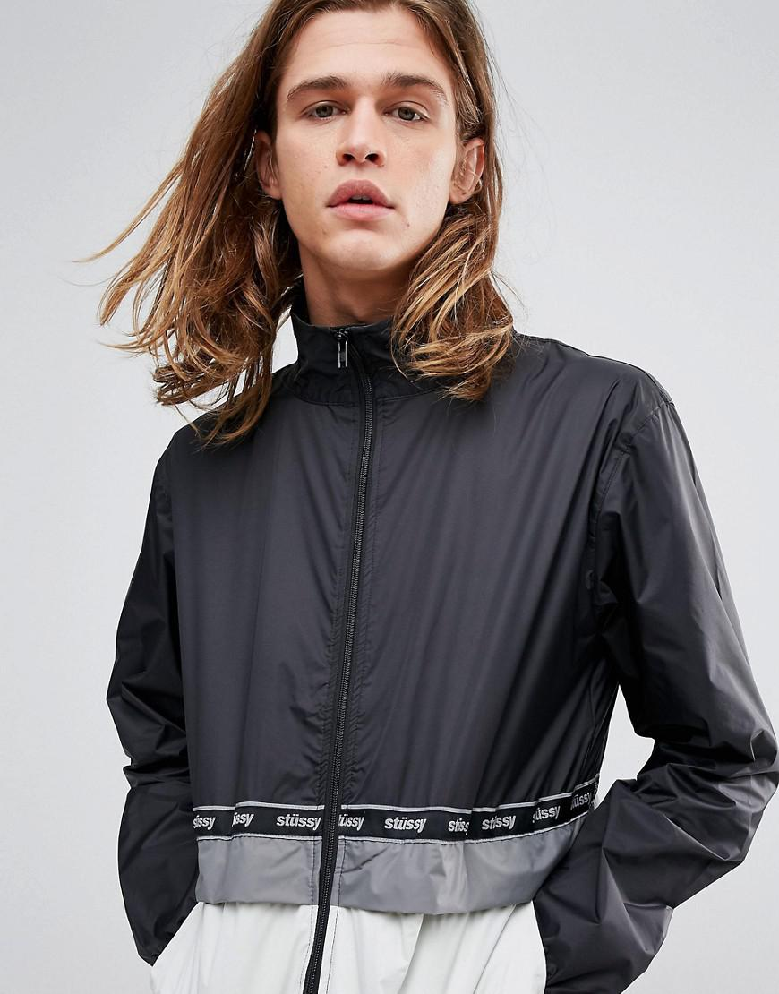 Stussy Synthetic Nylon Lightweight Warm Up Jacket in Black for Men