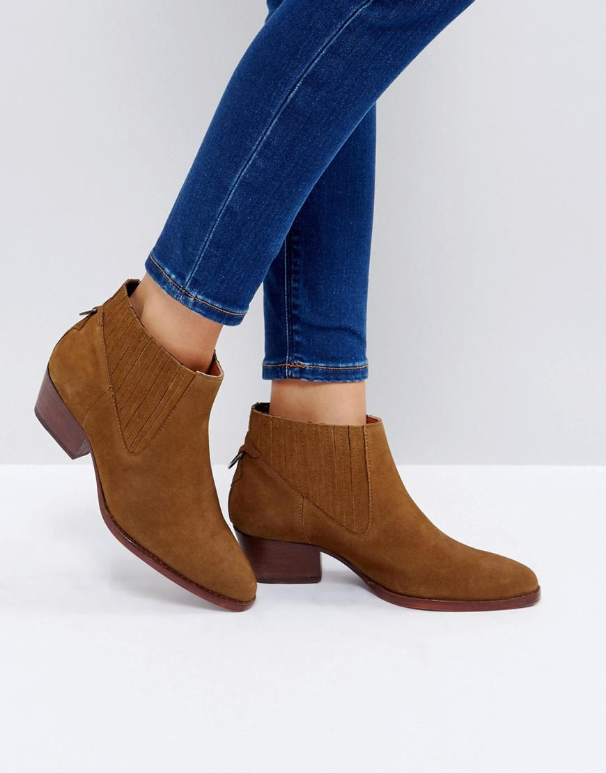 Hudson London Ernest Suede Flat Ankle Boots