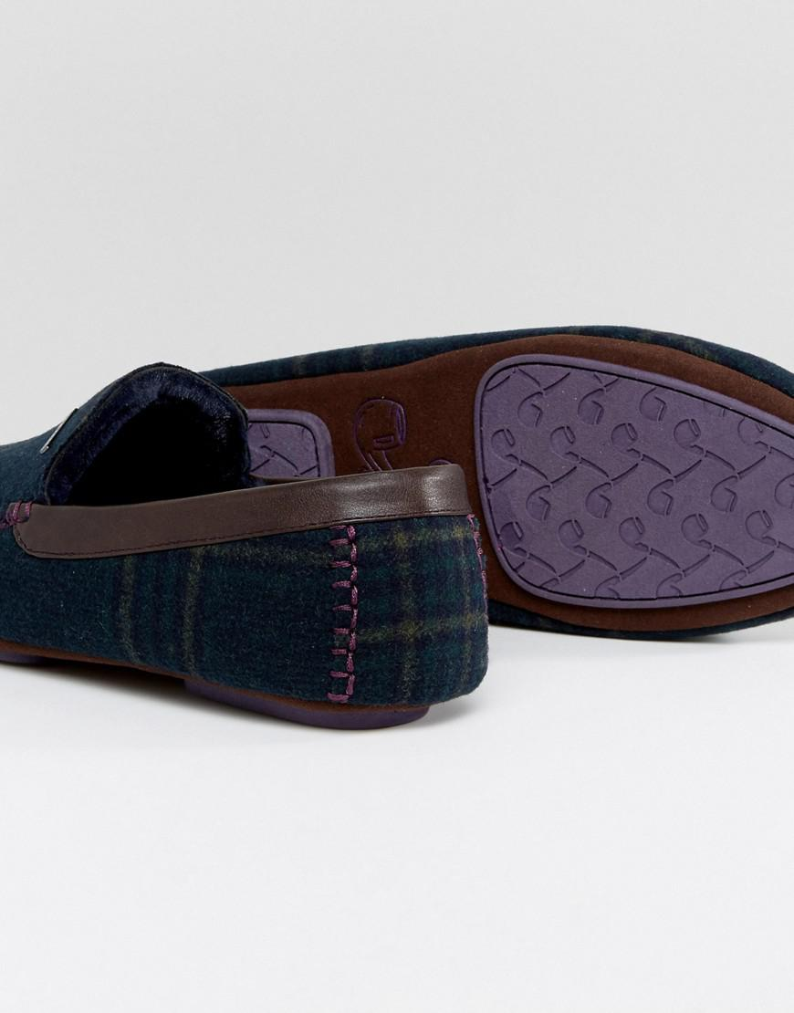 Ted Baker Suede Morris Moccasin Checked