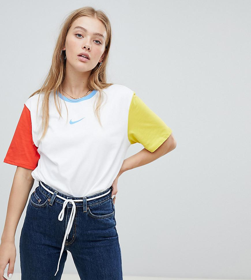 autumn shoes new arrive new images of Exclusive To Asos Color Block Swoosh Pack Boyfriend Fit T-shirt