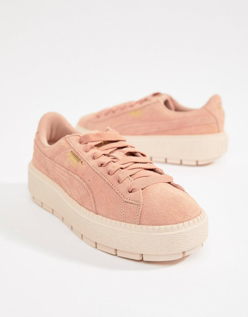 09a12b8f8b0 Lyst - PUMA Platform Trace Sneaker in Natural