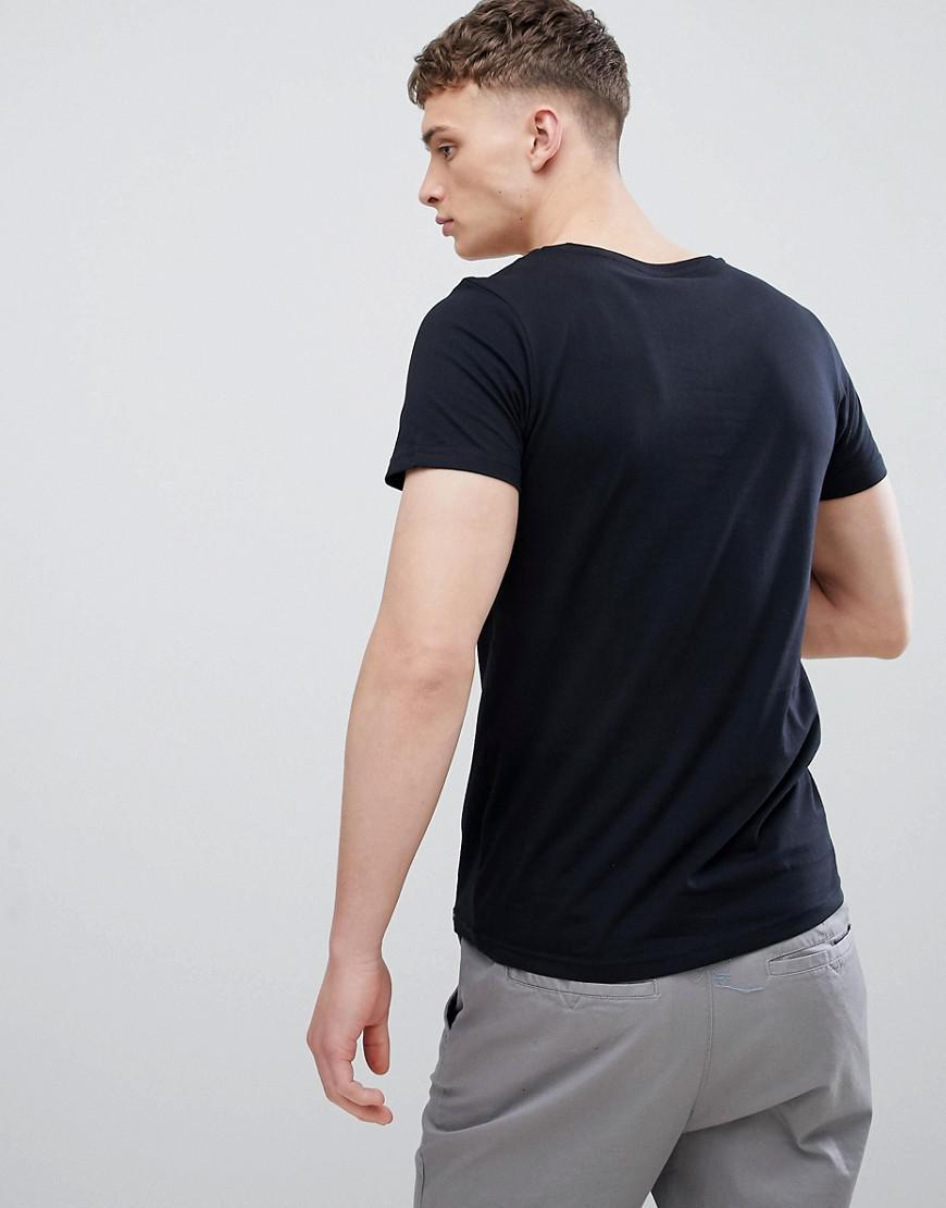 Lee Jeans Denim Jeans - T-shirt Met Borstzak Met Lagere Voorkant En Labeltje in het Zwart voor heren