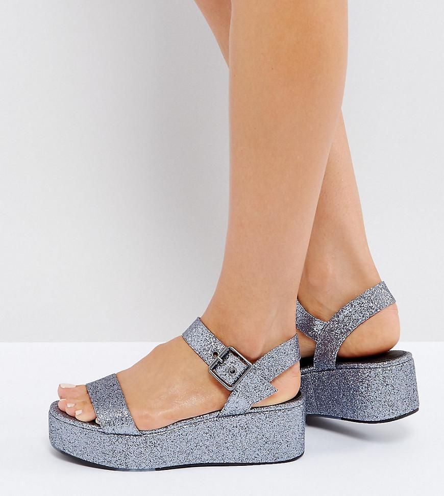 6ea264614af6 Lyst - ASOS Toucan Wedge Sandals in Gray