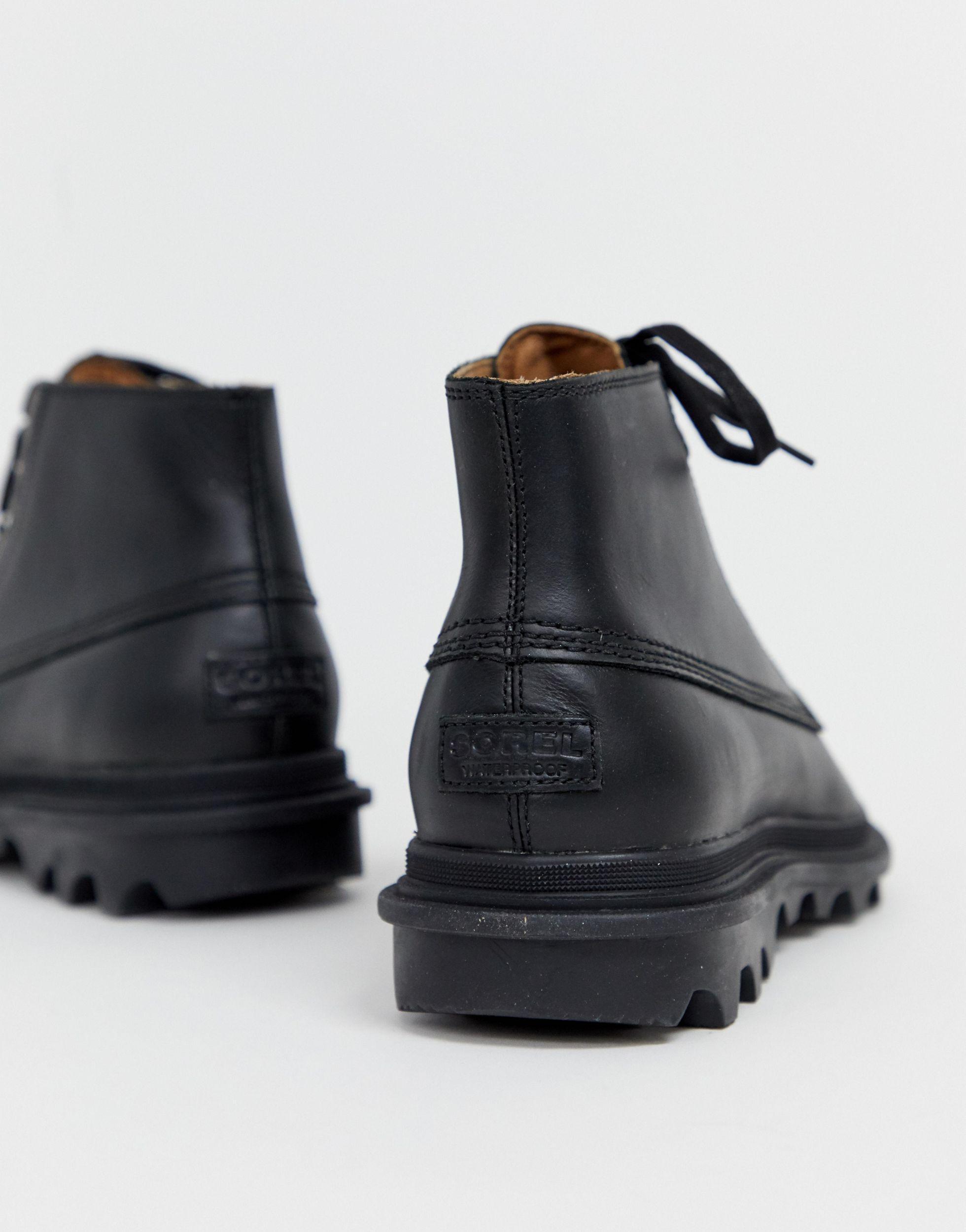 Sorel Canvas Ace Chukka - Waterbestendige Laarzen in het Zwart voor heren