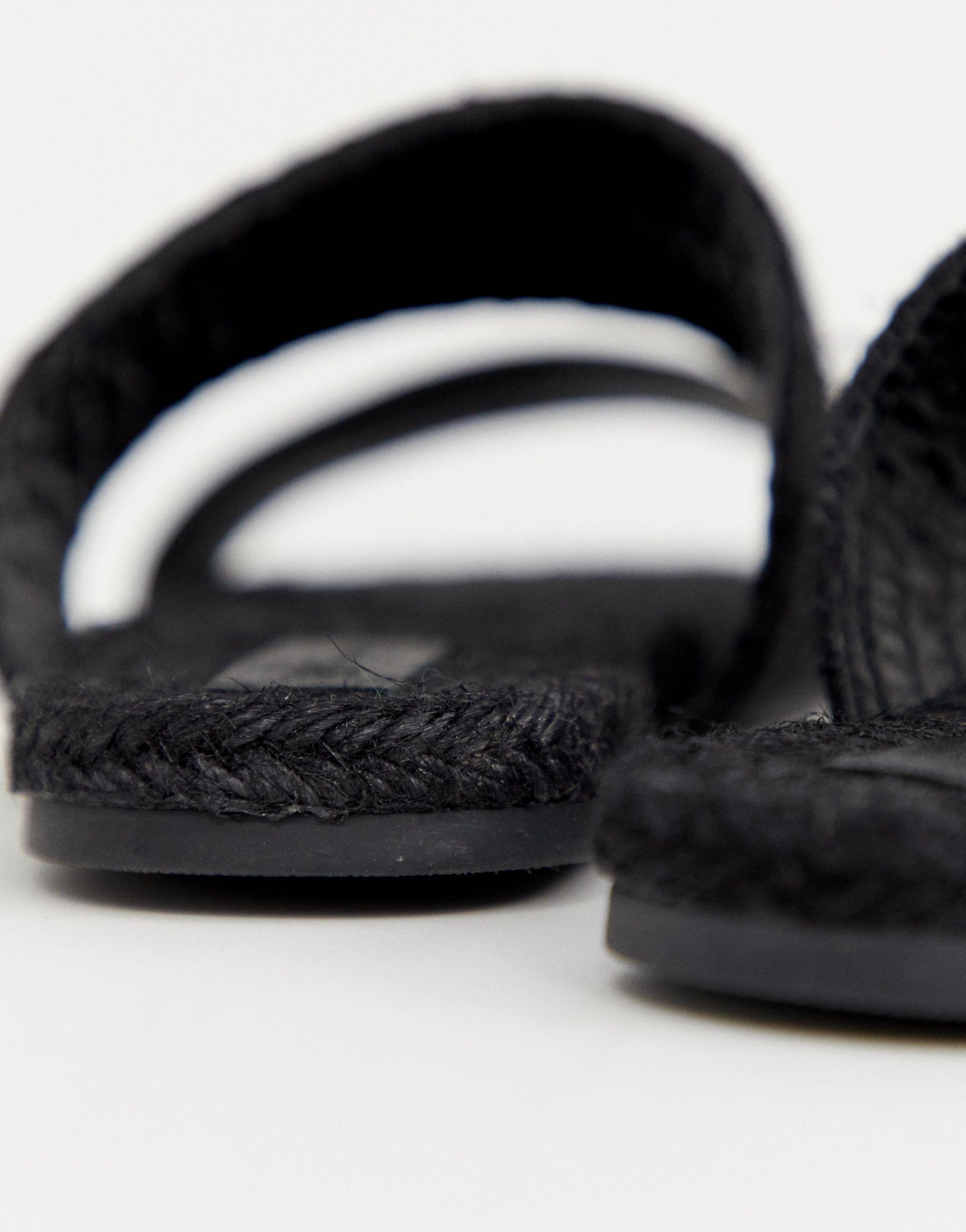 Mules estilo alpargata ASOS de Cuero de color Negro