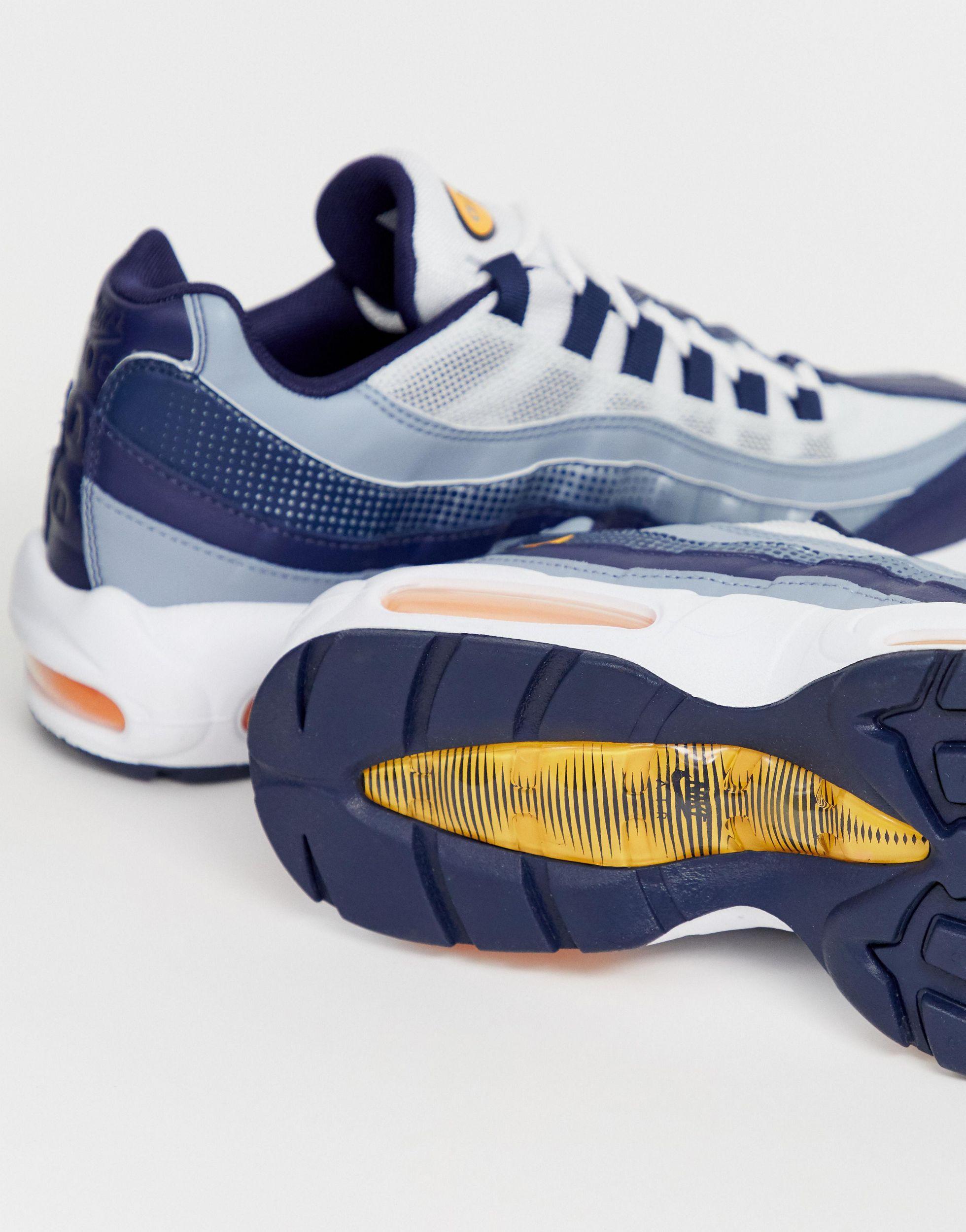 Nike Rubber Air Max - 95 Sneakers in het Blauw voor heren