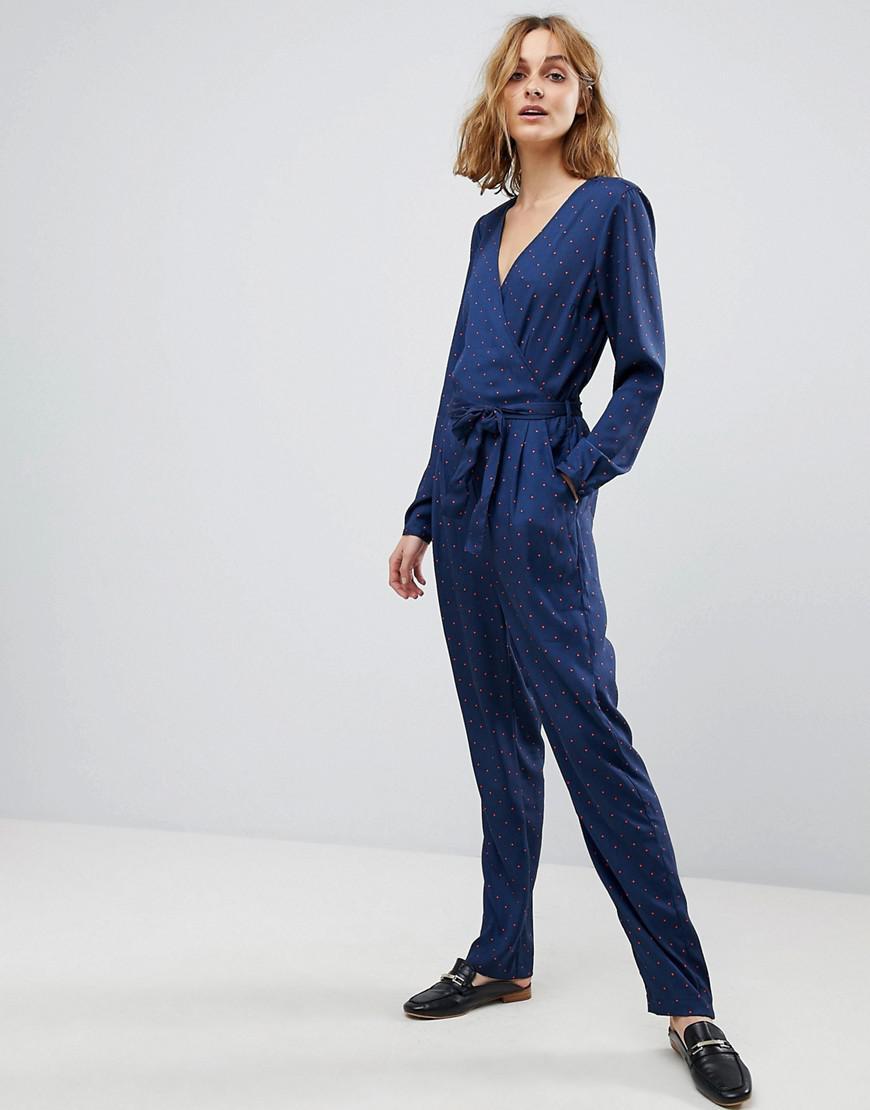 99eceaadcf2 Vero Moda Spot Jumpsuit in Blue - Lyst