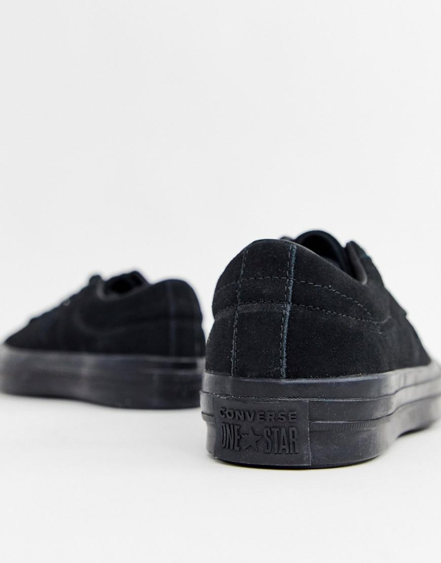 outlet store c8c9b a056b Converse One Star Ox Plimsolls In Black 162950c in Black for Men - Lyst