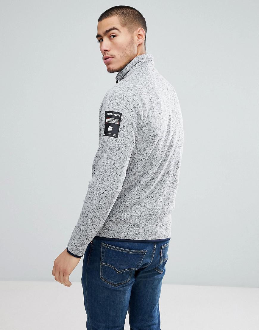 Jack & Jones Core Fleece Sweat Jacket in Grey (Grey) for Men