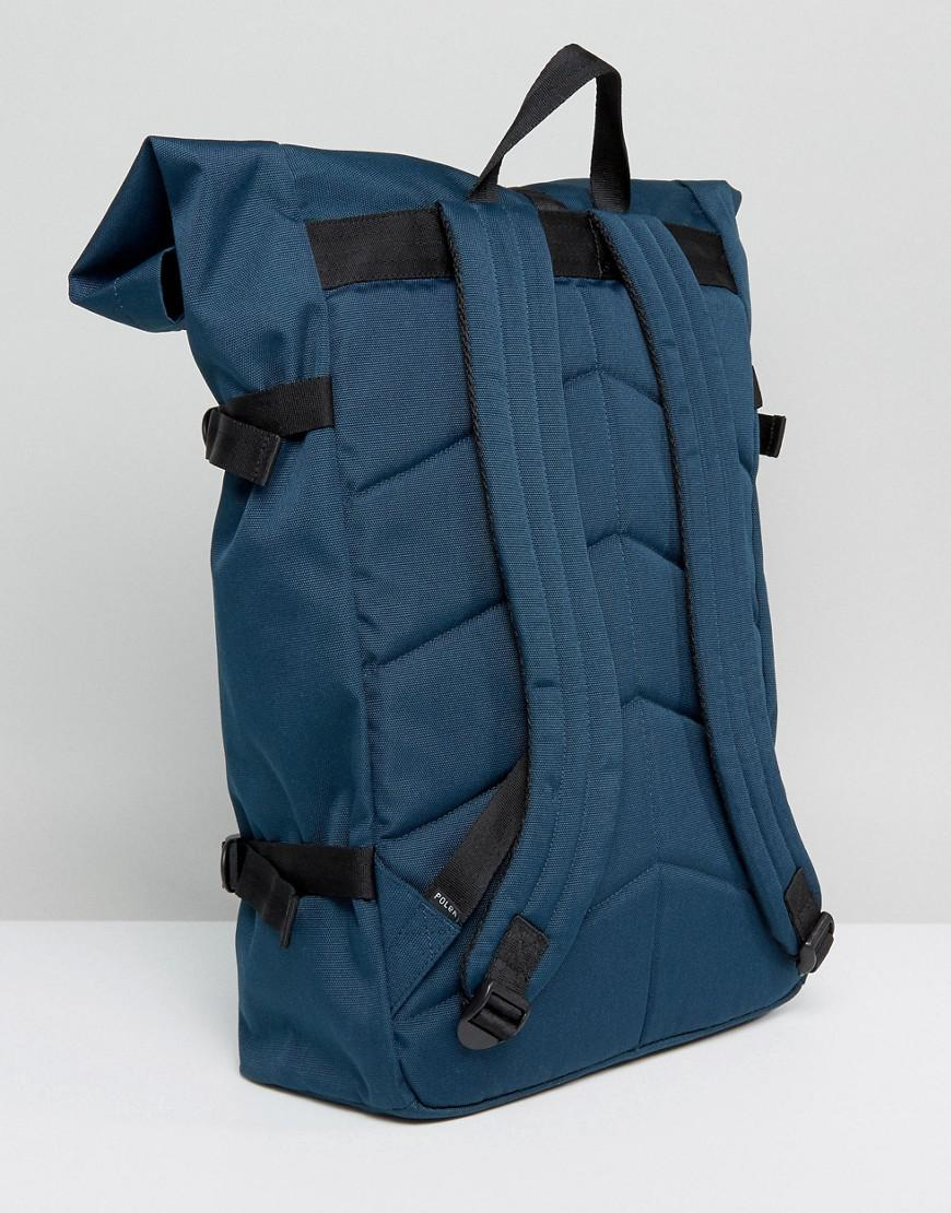 Poler Canvas Classic Rolltop Backpack In Navy in Blue for Men