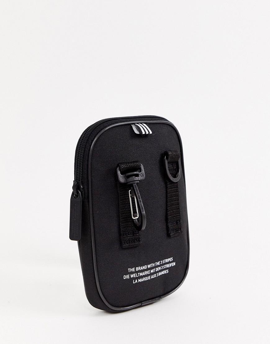 cd8fca5b09 adidas Originals Black Festival Mini Multiway Bag With Trefoil Logo in Black  - Lyst