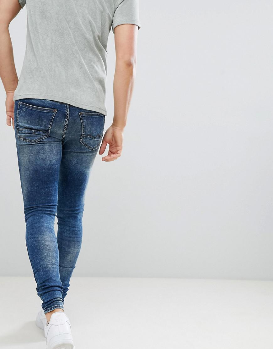 c68bb4d8 Blend Flurry Distressed Muscle Fit Jeans In Authentic Wash in Blue for Men  - Lyst