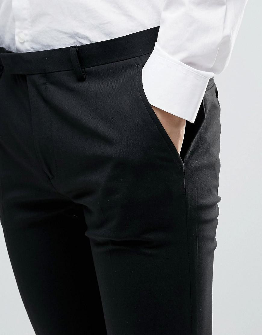 ASOS Synthetic 2 Pack Super Skinny Trousers In Black And Charcoal Save for Men