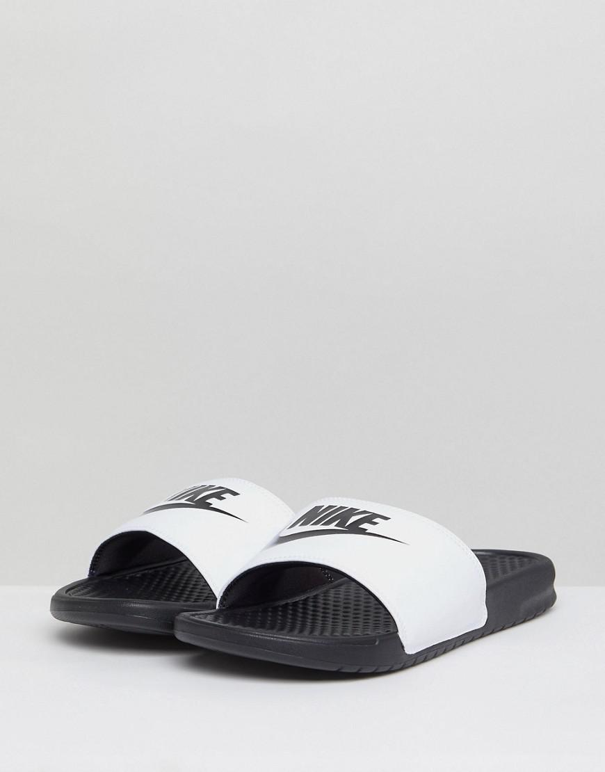 Nike Benassi Jdi Sliders In White 343880-100 for Men - Lyst