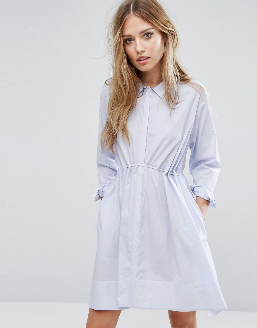 a170a6f4953 French Connection Smithson Stripe Cotton Dress in Blue - Lyst