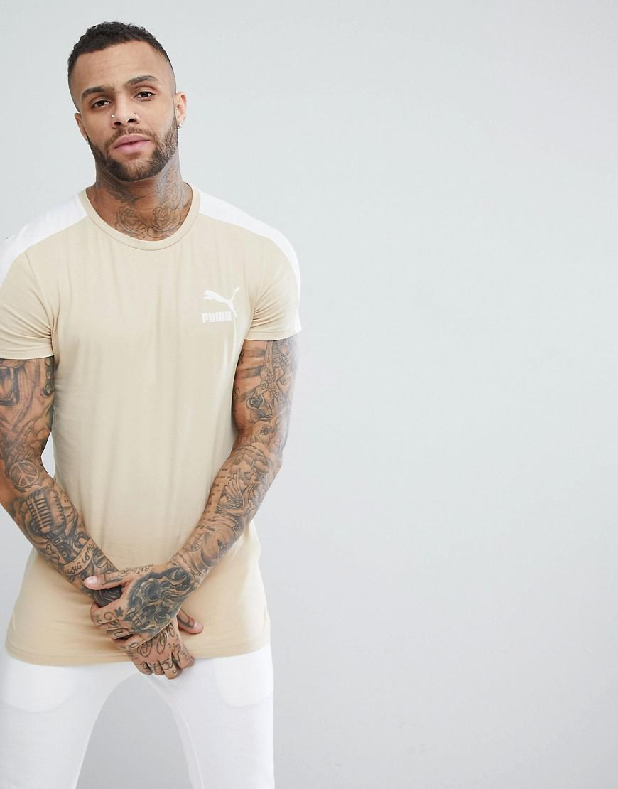 568f856a4 PUMA Archive T7 Muscle Fit T-shirt In Beige 57501543 in Black for ...