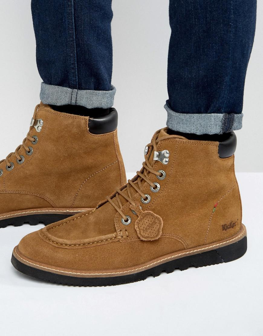 lyst kickers kwamie suede lace up boots in brown for men