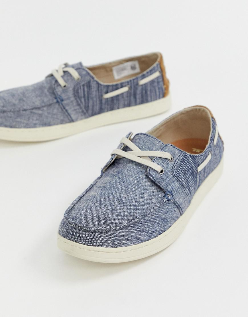 9b644ab5dcd TOMS Culver Chambray Boat Shoes In Blue in Blue for Men - Lyst