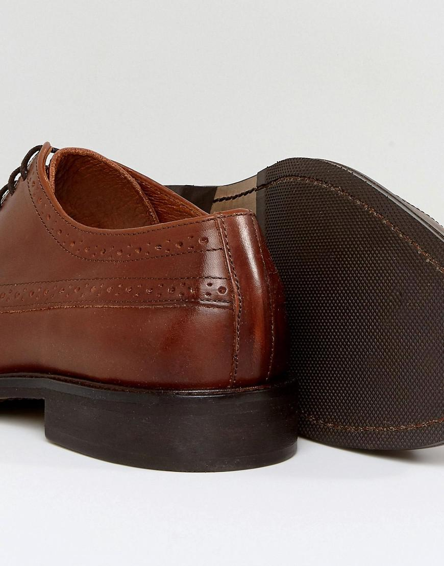 Lyst Lyst in for Brown Baxter Brogue Cognac Selected Shoes Men In Leather 0zw0Bq