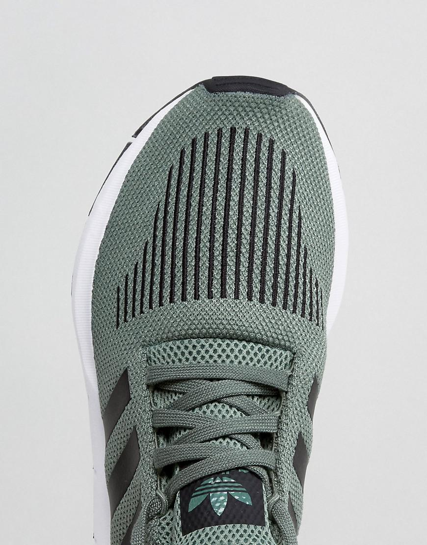 8c545afe6 adidas Originals Swift Run Trainers In Green Cg4115 in Green for Men ...